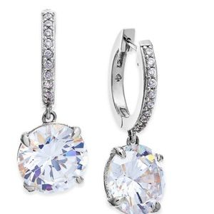 Kate spade silver pave drop earrings
